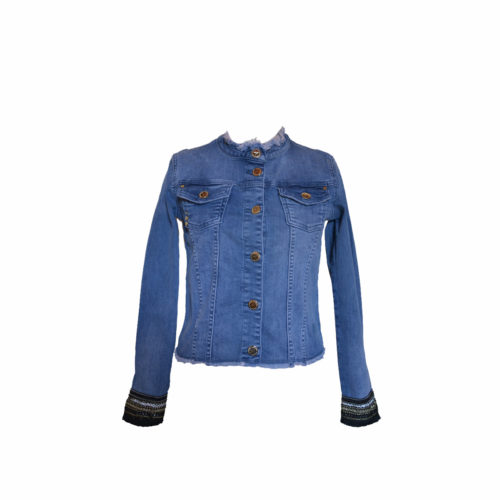 giacca jeans frange - Stock The Look